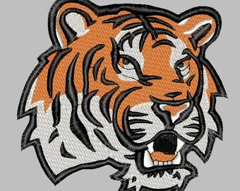 Embroidery Design file filled tiger  3 sizes Louisiana machine embroidery design download tigers LSU