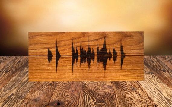Personalized Wood Wall Decor : Soundwave wall art custom wood burned personalized wooden