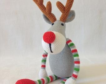 Amigurumi crochet toy Christmas deer