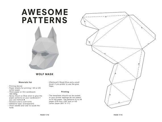 Smart image with 3d paper mask template free printable