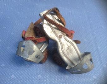 Vintage Metal Roller Skates