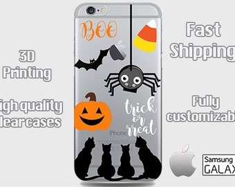 Halloween Phone Case, Clear iPhone case, Phone 6 clear case, iPhone 6 plus cell case, iPhone 6 plus, Samsung S6, iPhone 7, iPhone 7 Plus