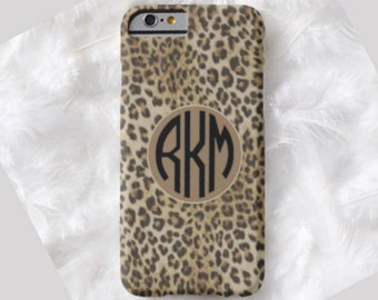 LEOPARD Monogram Cell Phone Case, iPhone 6 case, Note 4 case, leopard phone case, iPhone 6 plus cell phone case, iPhone 6 plus case, S6 #650