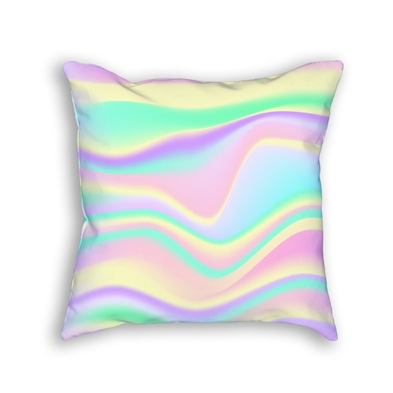 Fun Throw Pillows For Bed : Holographic Pattern Fun Throw Pillow Funky & Colorful