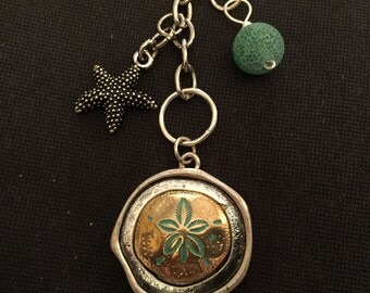 Beach Theme Planner Charm / Purse Charm / Zipper Pull