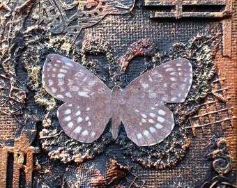 Little Metallic Butterflies - Mixed Media Tutorial