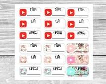 Erin Condren Youtube Stickers: Film, Edit, Upload