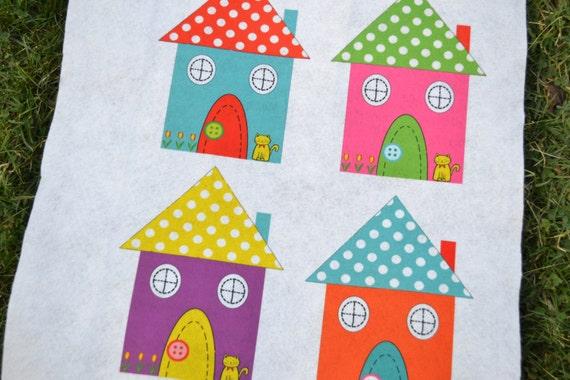 Printed felt home color felt sheets squares felt fabric for Felt arts and crafts