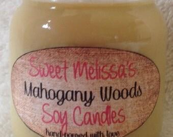 Mahogany Woods Soy Candle