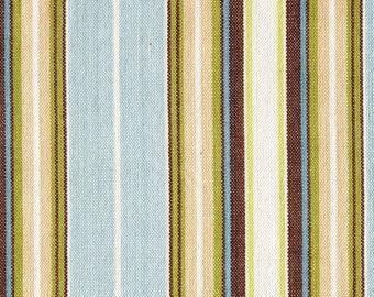 Gathered Bedskirt Belmont Seaglass Stripe