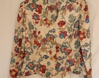 Floral Brocade Jacket by Nah Nah Collection Size 14