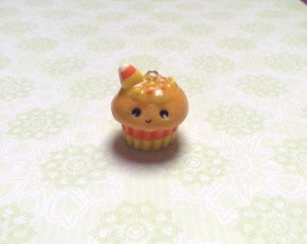Kawaii Polymer Clay Candy Corn Cupcake Charm
