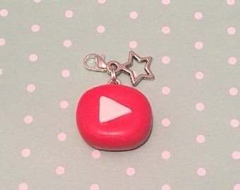 Polymer Clay YouTube Charm