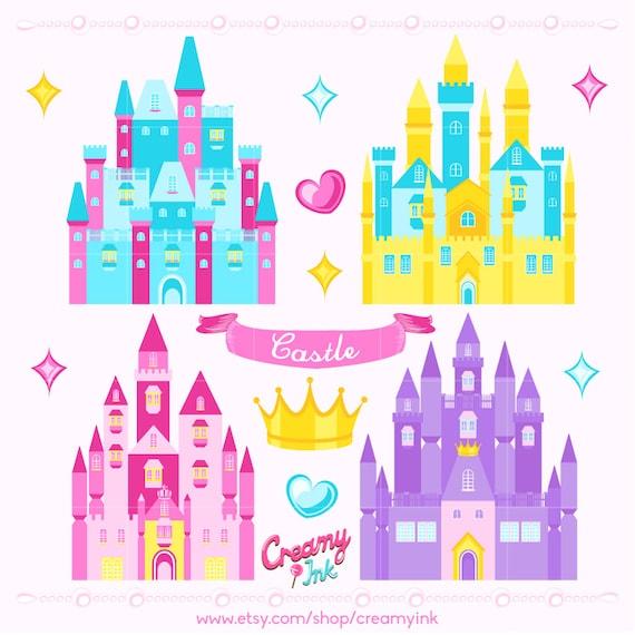 princess castle digital vector clip art castle clipart design rh catchmyparty com princess sofia castle clipart free disney princess castle clipart