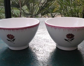 "Bowl ""café au lait"" / English vintage/Niderviller"