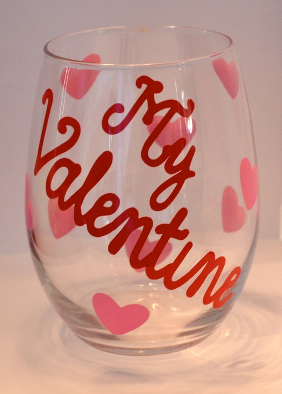 valentines day stemless wine glasses - Valentine Wine Glasses