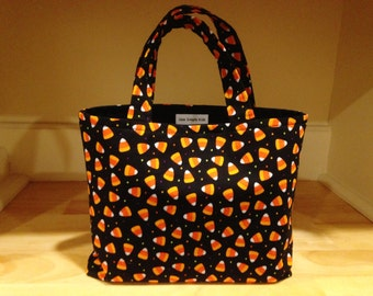 Trick or Treat Bag, Kids Halloween Tote, Candy Bag, Gift Bag, Candy Corn