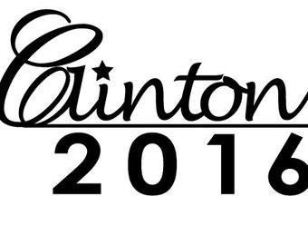 Hillary Clinton 2016 Car Decal