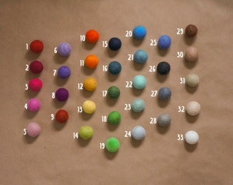Custom Color Felted Ball Garland, Birthday Party, Natural Wool Felted Balls, Nursery Bunting Banner