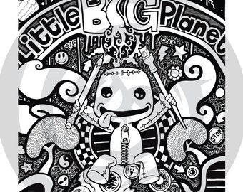 Plush Toggle Videogame Little Big Planet 3 Coloring Page Big Planet