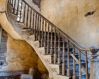 Stairs, Fine art photography, Urban Decay, Abandoned House, Wall Decor, Home Decor, Abandoned, Fine art print, Farm House,