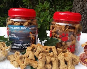 SET OF 2 The Badlands Farms 100% Natural Gourmet Sheba Snack Healthy Delicious Dog Treats