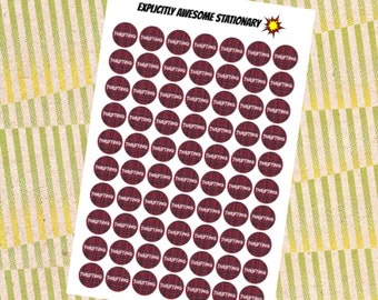 Plaid Thrifting Stickers