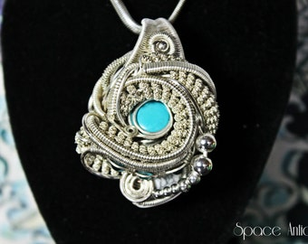 "Wire Wrap Pendant - ""The Aquanaut"""