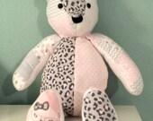 Memory Bear, Keepsake Bear, Memorial Bear, Memory Teddy Bear, Handmade Custom Memory Bear, Patchwork Bear, Bear Made From Your Clothing
