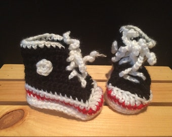 Hi-Top Sneaker Baby Booties - FREE U.S. SHIPPING