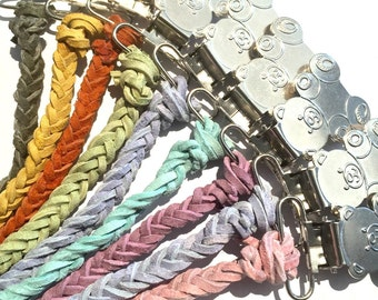 SALE!!! 2 for 14!! Leather Pacifier Clip Paci Clip Binky Clip Soother Clip