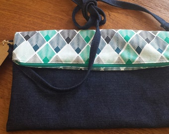Denim Fold Over Bag