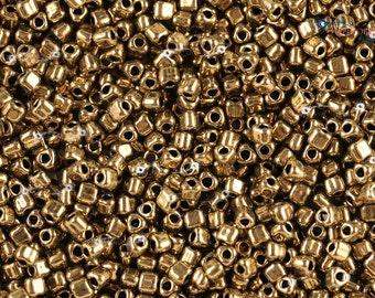 Miyuki 8/0 Triangle Beads - Metallic Dark Bronze [ TR8-457]