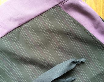 Pajama long bottom brown with mauve and mauve stripes/mauve