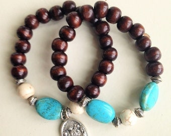 Turquoise and Howlite Set