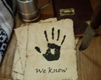Dark Brotherhood Note, Skyrim Inspired Prop Replica, We Know
