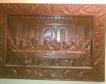 Vintage Last Supper Wood Portrait