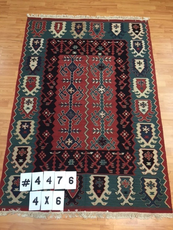 4' x 6' Chinese Kilim Oriental Rug - Very Fine - Hand Made - 100% Wool