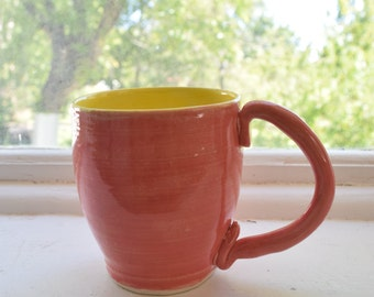 Pink and Yellow Mug