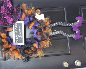 Witchy Halloween wreath!