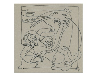 Original 15/15 abstract drawing art picture