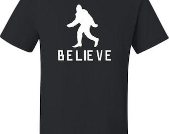 Adult Bigfoot Believe Sasquatch Squatch T-Shirt