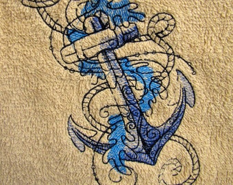 Anchor Bath Towel Set of Two