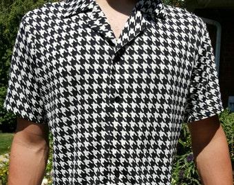Houndstooth Shirt Bowling Shirt