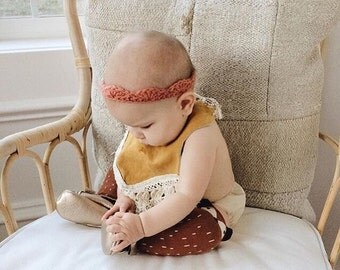 BABY CROWN HEADBAND // baby + toddler whimsical girly lace headband