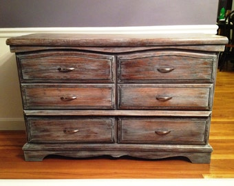 Weathered oak dresser