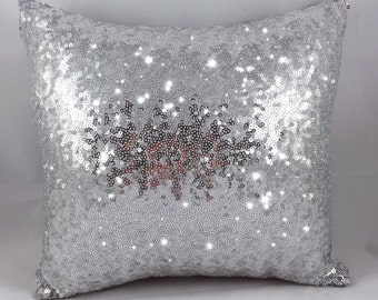 Silver Sequin Pillow Cover- Envelope Style