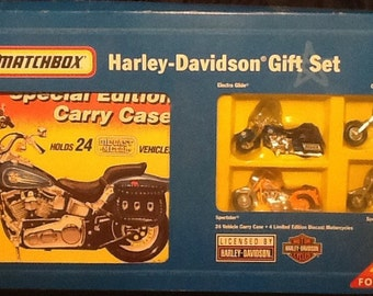 Vintage Matchbox Harley-Davidson Limited Edition Gift Set NEW with 4 Motorcycles
