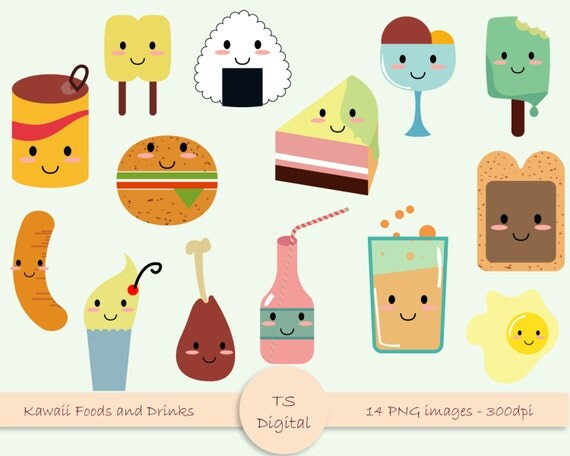 Kawaii food and drink clipart cute baby kids clip by ...
