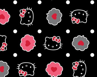 Hello Kitty Thoughts of love Bubble Fabric From Springs Creative